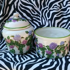Collectible Hydrangea Flower Jars